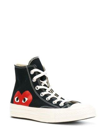 Comme Des Garçons Play x Converse x Comme Des Garçons Play Chuck 70 Sneakers - Farfetch