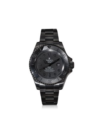 Black MAD Paris customised Rolex Deepsea 44mm - Farfetch