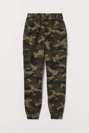 Twill Cargo Pants - Green