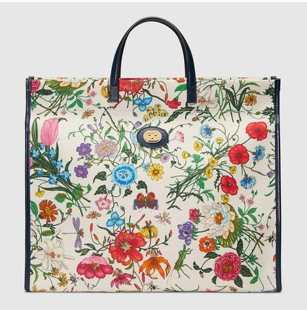 Large Flora tote bag