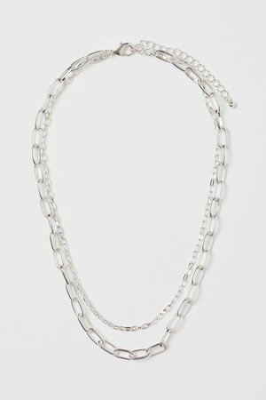 Double-strand Necklace - Silver colored - Ladies | H&M US