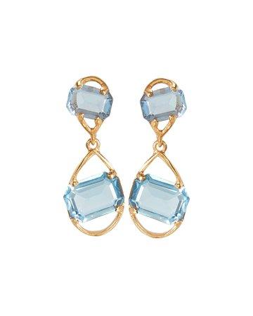 Oscar de la Renta   Crystal Teardrop Earrings   INTERMIX®