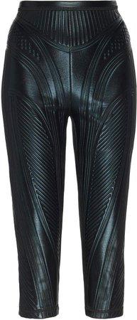 MUGLER Sheen Embossed Cycling Shorts Size: 36