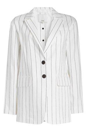 Striped Blazer in Linen Gr. US 2
