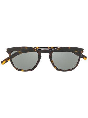 Saint Laurent Eyewear Classic SL 28 Sunglasses - Farfetch