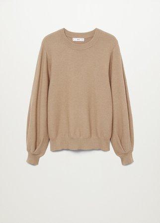 Sweater with puffed sleeves - Women   Mango USA