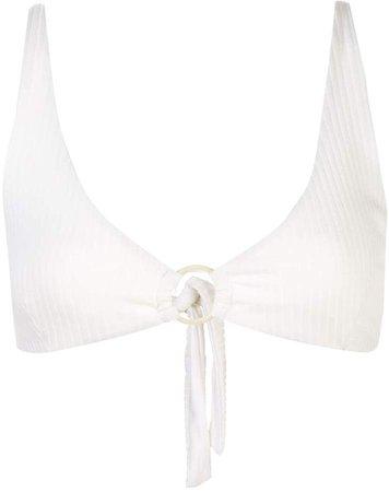 Jade ribbed bikini top