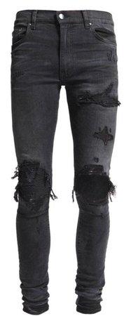 mike amiri Mx-1 denim patch broken jean black