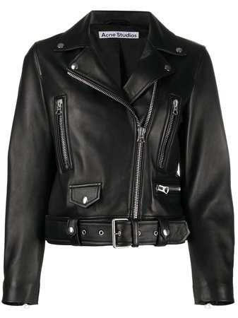 Acne Studios Leather Biker Jacket - Farfetch