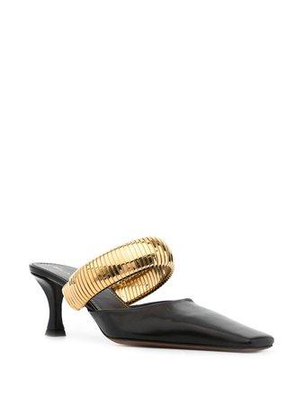 Proenza Schouler square-toe Leather Mules - Farfetch