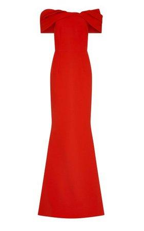 Rosa Heavy Crepe Off-The-Shoulder Gown By Safiyaa | Moda Operandi