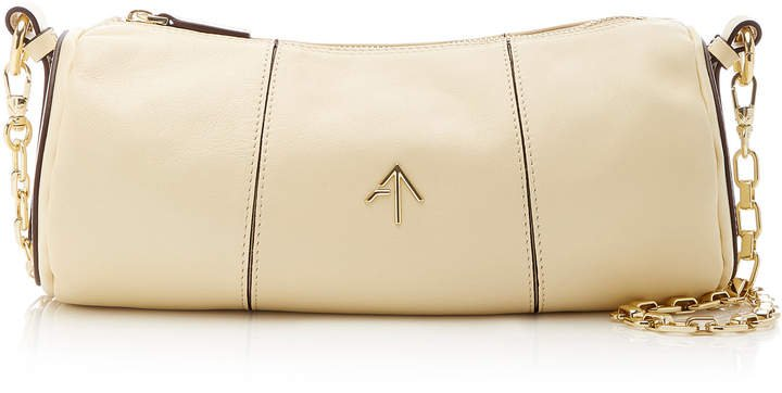 Manu Cylinder Leather Shoulder Bag