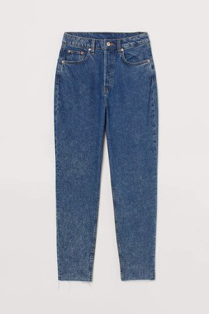 Mom High Ankle Jeans - Blue