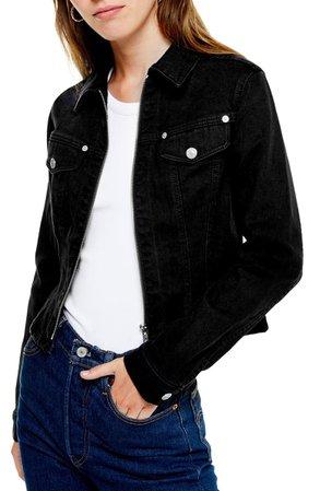 Topshop Zip Denim Jacket | Nordstrom