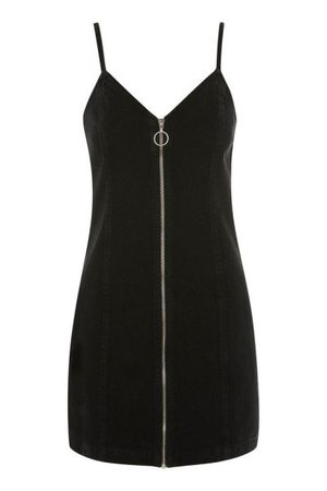 Topshop Zip Through Denim Dress
