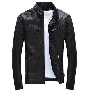 Motorcycle Rider Casual Men's Leather Jacket – Peach&Mango