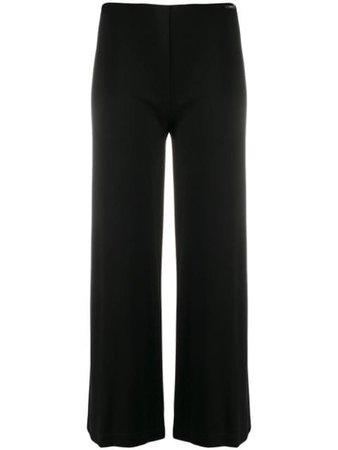 Liu Jo Chain-Detail Flared Trousers WA0386J4019 Black | Farfetch