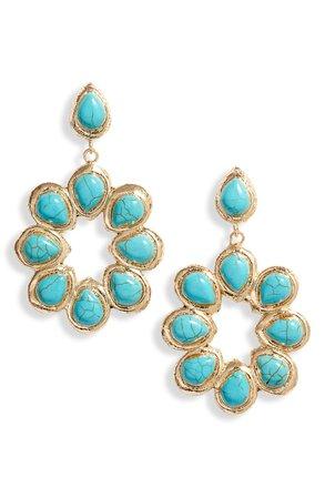Bracha Oceana Hoop Drop Earrings | Nordstrom