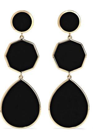 Ippolita | Polished Rock Candy 18-karat gold onyx earrings | NET-A-PORTER.COM