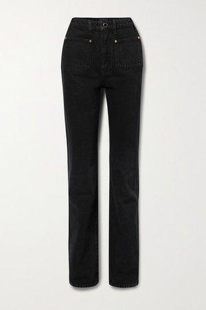 Isabella High-rise Straight-leg Jeans - Black