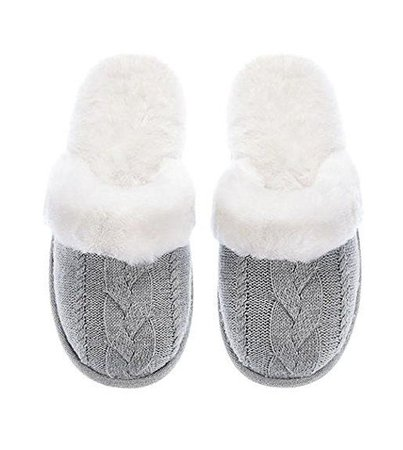 Victoria's Secret Cozy Cable Knit Slipper Gray