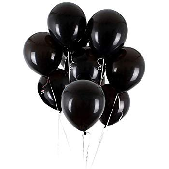 Amazon.com: UTOPP 50 pcs Black Balloons 12 Inches Ultra Thickness Latex Balloon Pearlized for theme Thanksgiving Christmas Wedding decorations: Toys & Games