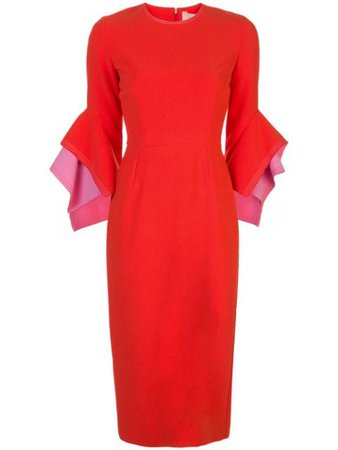 Roksanda Structured-Sleeve Midi Dress SS20H15157 | Farfetch