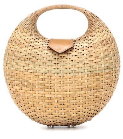 Elena wicker basket bag