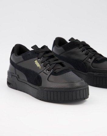 Puma Cali Sport sneakers in triple black | ASOS