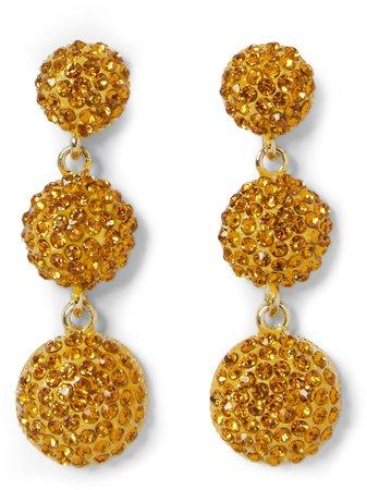 Jeweled Triple-Drop Earrings