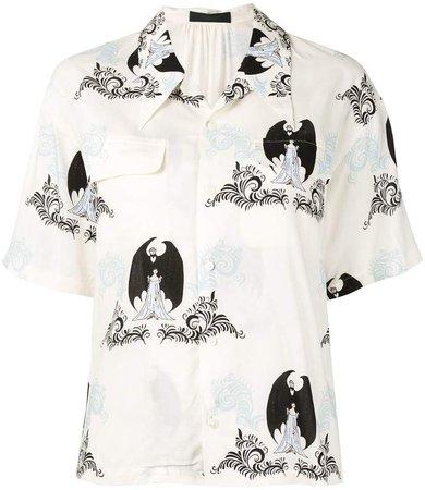 Dracula-print short sleeved shirt