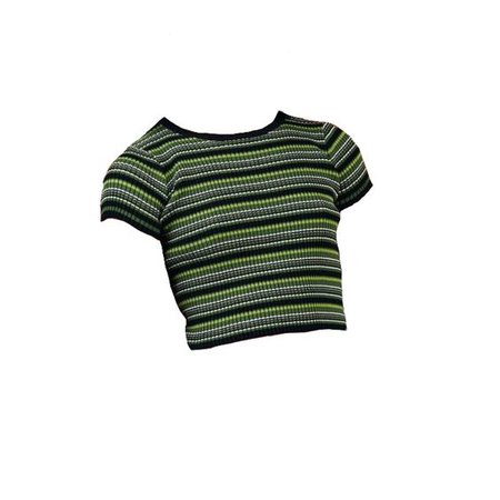 green and black striped shirt png