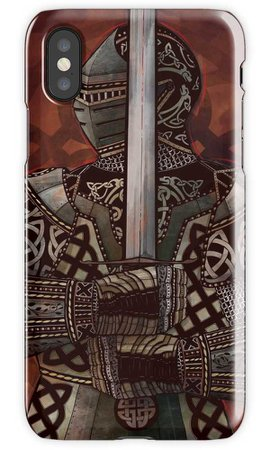 """""""Celtic Knotted Knight"""" iPhone Cases & Covers by TaylorRoseArt 