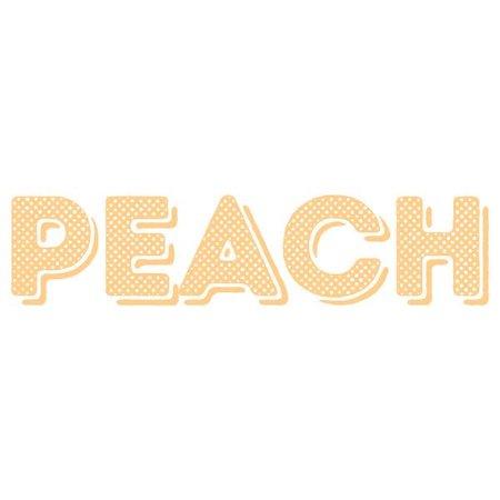 peach title text
