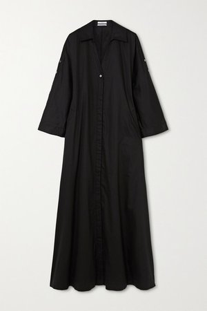 Cotton Maxi Dress - Black