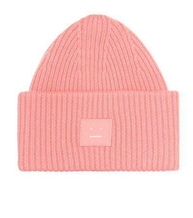 Pansy S Face wool beanie