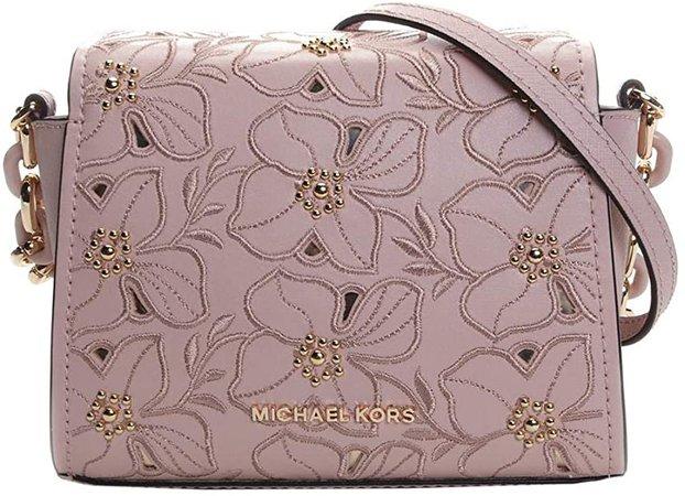 Michael Kors Sofia Small Stud Flower Crossbody Saffiano Leather Bag- Ballet: Handbags