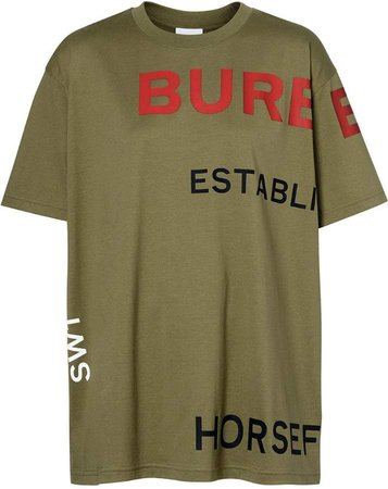 Horseferry Print Cotton Oversized T-shirt