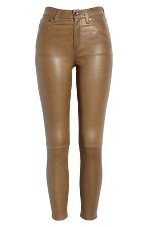 rag & bone Nina High Waist Ankle Skinny Leather Pants | Nordstrom