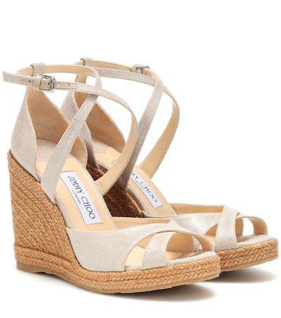 Alanah 105 metallic wedge sandals
