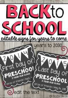 Back to School Signs - Pinterest