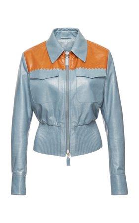 Bomber leather jacket by Bottega Veneta | Moda Operandi