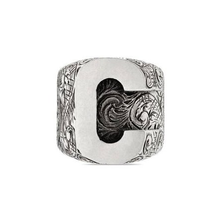 C letter ring in silver   GUCCI®