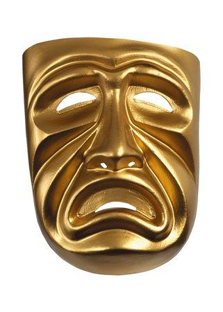 Gold Tragedy Mask