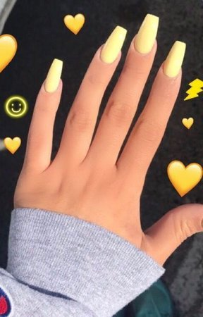 yellow nailssss