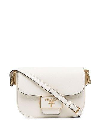 Prada Emblème Shoulder Bag 1BD220DUONZV White | Farfetch