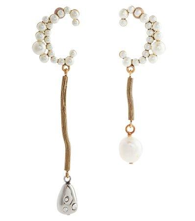 Chloé - Darcey baroque pearl earrings | Mytheresa