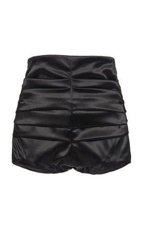 Stretch Satin Mini Shorts