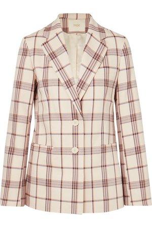 Maje | Checked twill blazer | NET-A-PORTER.COM