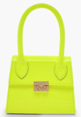 boohoo lime green purse